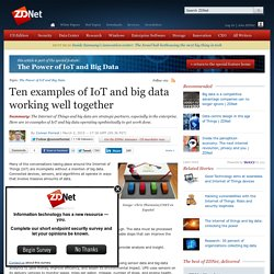 Ten examples of IoT and big data working well together