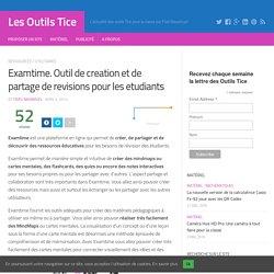 Examtime. Outil de creation et de partage de revisions pour les etudiants – Les Outils Tice