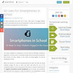 40 Uses For Smartphones in School