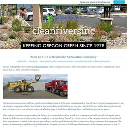 How to Hire a Reputable Excavation Company – cleanriversinc