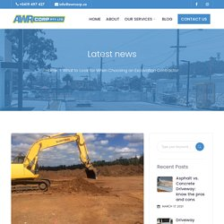 What to Look for When Choosing an Excavation Contractor - AWR Corp - Building