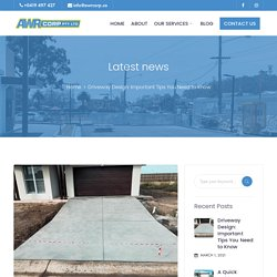 Driveway Design: Important Tips You Need to Know - AWR Corp - Building
