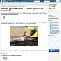 Different Types of Excavators and Their Respective Uses