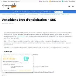 L'excédent brut d'exploitation - EBE