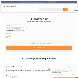 Get Excel Assignment Help