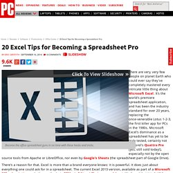 20 Excel Tips for Becoming a Spreadsheet Pro
