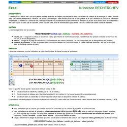 Excel - la fonction Recherchev