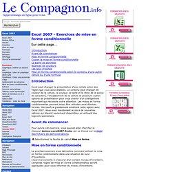 Excel 2007: Mise en forme conditionnelle