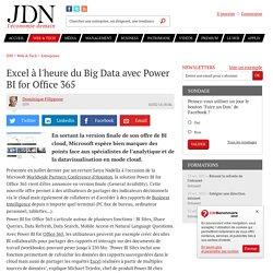 Excel à l'heure du Big Data avec Power BI for Office 365