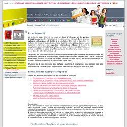 Excel interactif - Site INP de Toulouse