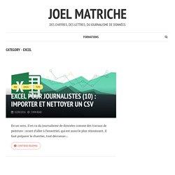 Excel – joel matriche