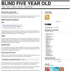 18+ SEO Excel Functions | Blind Five Year Old