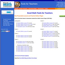 Excel Math Tools for Teachers