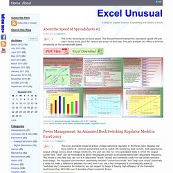 ExcelUnusual - outstanding methods for creating engineering, scientific, technical models and games in excel