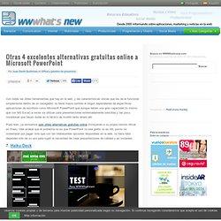 Otras 4 excelentes alternativas gratuitas online a Microsoft PowerPoint