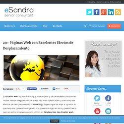 20+ Páginas Web con Excelentes Efectos de Desplazamiento