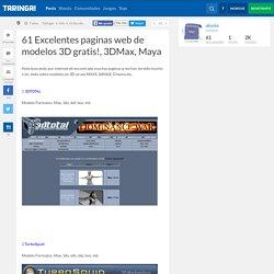 61 Excelentes paginas web de modelos 3D gratis!, 3DMax, Maya