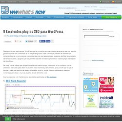 8 Excelentes plugins SEO para WordPress
