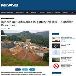 Runner-up: Excellence in battery metals – Alphamin Resources