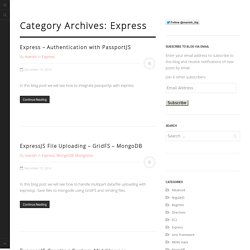 Express Archives - Excellence MEAN Stack - Mobile Blog