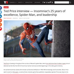 Insomniac's 25 years of excellence, Spider-Man, and leadership