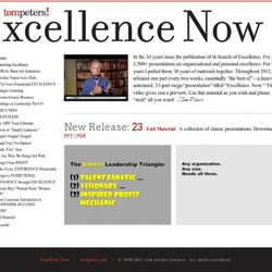 Excellence Now by Tom Peters