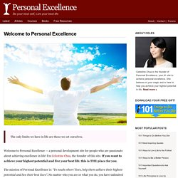 Personal Excellence - For people passionate about achieving excellence in life