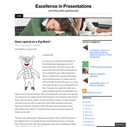 Excellence in Presentations | and other public speaking tips