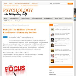 FOCUS: The Hidden Driver of Excellence – Summary Review