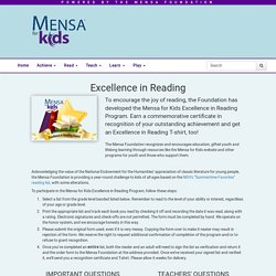 Excellence in Reading - Mensa for Kids