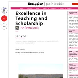 Excellence in Teaching and Scholarship