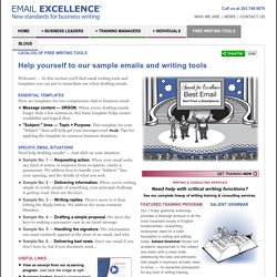 Free Writing Tools: Email Samples, Formats, and Templates