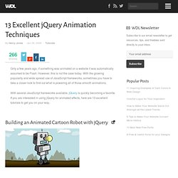 13 Excellent jQuery Animation Techniques | Tutorials