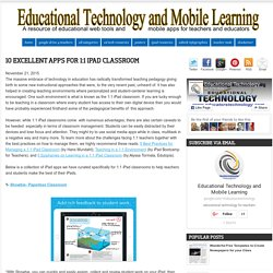 10 Excellent Apps for 1:1 iPad Classroom