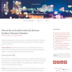 How to Be an Excellent Artist by Norman Brodeur