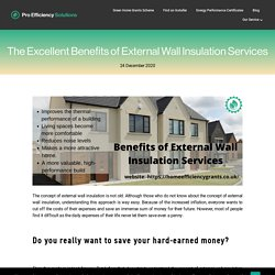 The Excellent Benefits of External Wall Insulation Services