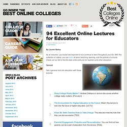 100 Excellent Online Lectures for Educators