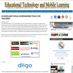 10 Excellent Social Bookmarking Tools for Teachers