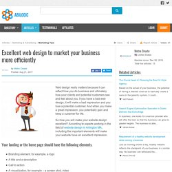 Excellent web design to market your business more efficiently