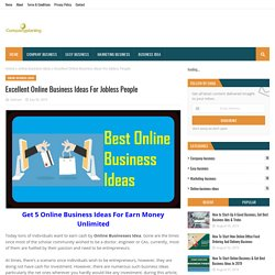 Excellent Online Business Ideas For Jobless People