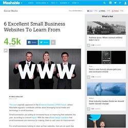 6 Excellent Small Business Websites To Learn From