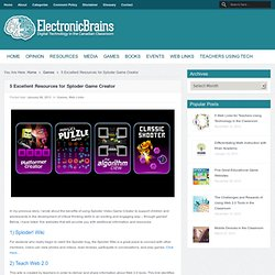 5 Excellent Resources for Sploder Game CreatorElectronic Brains