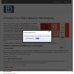 6 Excellent Free HTML5 eBooks for Web Designers - Detechter