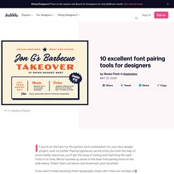 10 excellent font pairing tools for designers