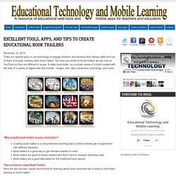 Excellent Tools, Apps, and Tips to Create Educational Book Trailers