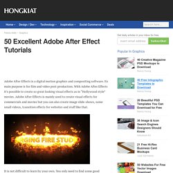 50 Excellent Adobe After Effect Tutorials