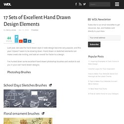 17 Sets of Excellent Hand Drawn Design Elements