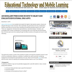 An Excellent Free Guide on How to Select and Evaluate Educational iPad Apps
