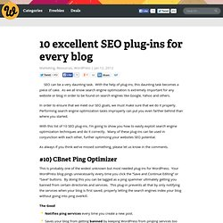 10 excellent SEO plug-ins for every blog