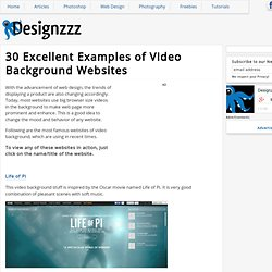 30 Excellent Examples of Video Background Websites